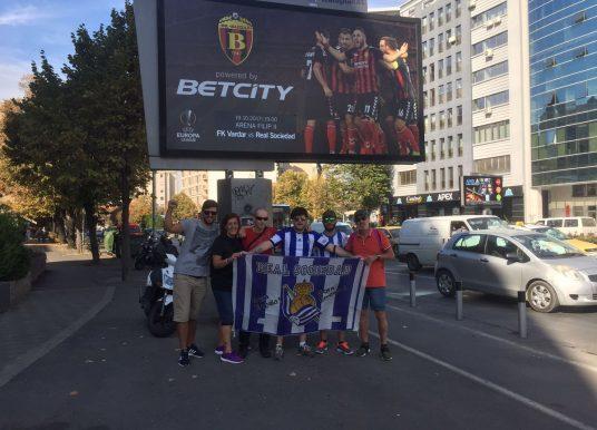 Навивачите на Реал Сосиедад во прошетка низ Скопје